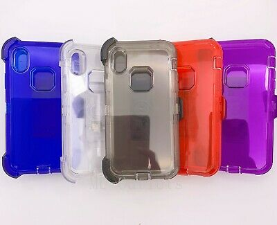 Clear Case For iPhone XR (ONLY) Cover With (Clip fits Otterbox Defender Series)