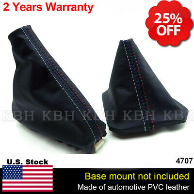 For Bmw 3 Series E36 E46 91-05 Shift Boot Black Suede M3 ////// Stitching
