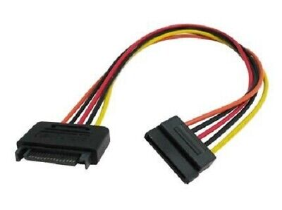 """12"""" 15-Pin SATA Male to Female Power Extension Adapter Cable"""