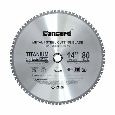 Concord Blades MCB1400T080HP 14-Inch 80 Teeth TCT Ferrous Metal Cutting Blade