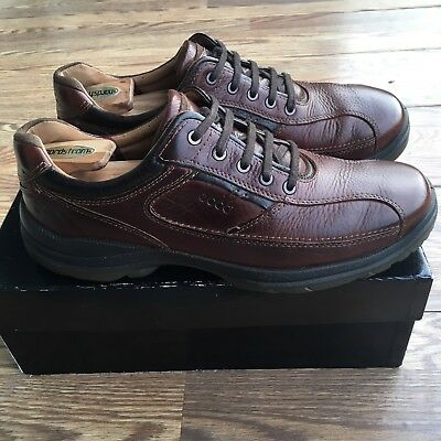 272d2d435f60 Ecco Irving Hydromax Casual Walking Shoes Brown Leather Sz 46 Us 12.5-13