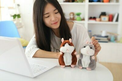 Hamster Repeats What You Say Electronic Pet Talking Plush Toy Cute Gift