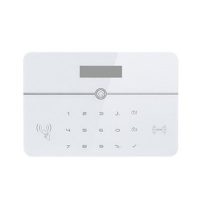 GSM+PSTN Alarm Host LCD Display Touch Keypad Home Security Alarm System W9
