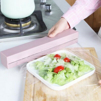 Handy Plastic Kitchen Foil And Cling Film Wrap Dispenser Cutter Storage Holde Kp