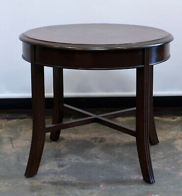 Beautiful Vintage Round Wooden Coffee Side Table