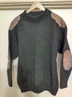 Vintage Coogi 100% Australia Wool sweater with leather patches