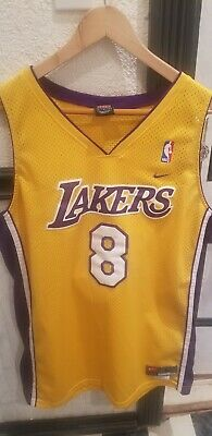100% authentic c7600 39fd8 VTG NBA NIKE Los Angeles Lakers Kobe Bryant Jersey 8 Sewn Mens Large Mamba  Shaq
