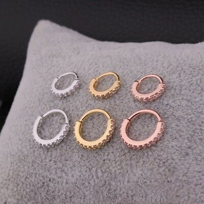 4e1d7c908fb38 SURGICAL STEEL TURQUOISE Nose Ring Hoop Tragus Helix Cartilage ...