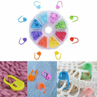 AU 120pcs Knitting Crochet Locking Stitch Needle Clip Markers Holder Tool Gift L