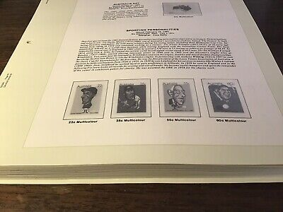 HINGELESS SEVEN SEAS PAGES AUSTRALIA 1981 To 1987 NO STAMPS, 62 PAGES TOTAL.