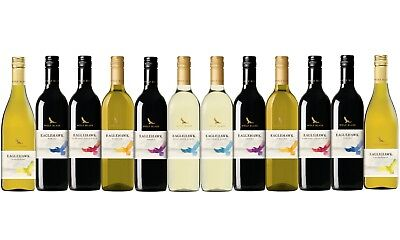Mixed Wolf Blass Eaglehawk Wine Pack - Big Brand Special 12x750ml Free Delivery