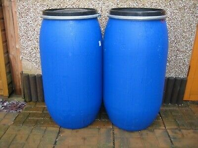 Plastic Barrel Butt 120 Litre Clamp Ring Water Storage Container Drum In DURHAM