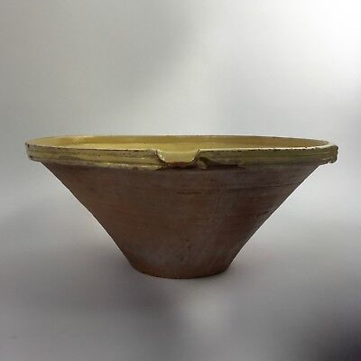 beautiful extra Large antique French Confit cooking mixing Bowl Tian terracotta