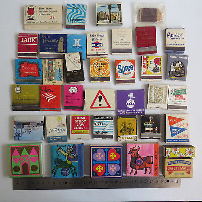 •••The WORLD MATCHBOXES • USED Lot of 38 Boxes • Mixed Brands with Matches #N•••