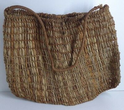 Antique Australian Aboriginal Woven Dilly Bag - Flax And Twine