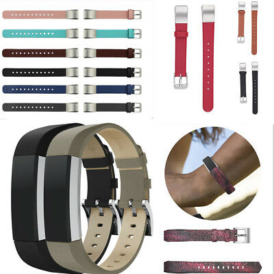 Replacement For Fitbit Alta & Hr Leather Strap Classic Metal Buckle Wristband