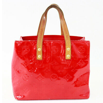 7daf50093b4b Auth LOUIS VUITTON Vernis Reade PM M91088 Hand Bag Red Patent Leather BA2324