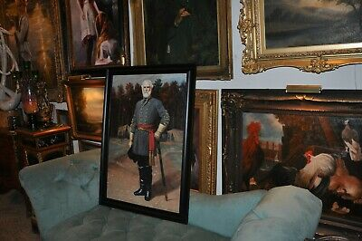 Monumental  Museum Quality  General Robert E. Lee   Oil Painting
