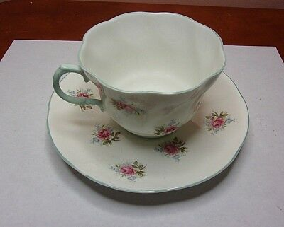 Queens Rosina Fine Bone China Flowers Teacup and Saucer, Made in England