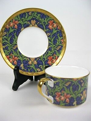 NIKKO COMPANY Victoria & Albert Museum Iris Cup and Saucer Fine Bone China