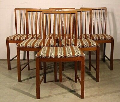 Vintage Danish mid century dining chairs 1950's original Scandinavian Retro BIG