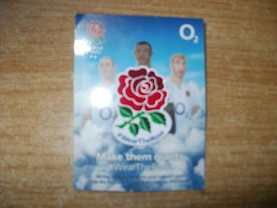 Rugby Pin Badge-#wear The Rose-O2 Sponsors Badge