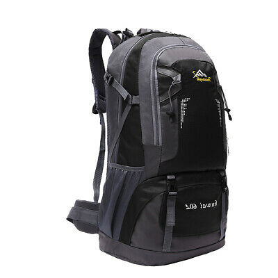 60L Waterproof Sports Backpack Trekking Backpacking Hiking Travel Rucksack