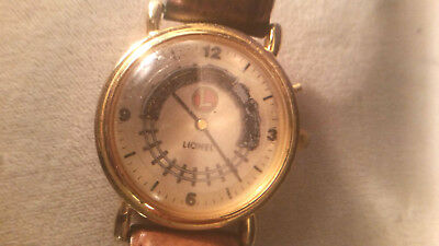 Vintage Lionel Train Watch with Leather Band