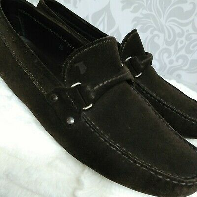 6a0f3169aae Tods Brown Suede Driving Loafers Moccasins Mens Size 10 Slip On Shoes Italy