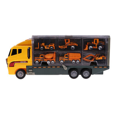 7 Packs Kids Diecast Engineering Car Container Lorry Toys Digger/Dump Truck