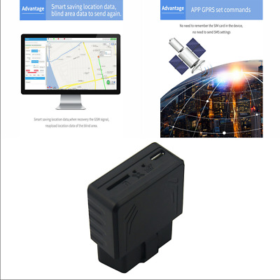 AUTO CAR OBD GPS Tracker Real-Time Tracking Geo-fence Movement Anti-theft  Alarm