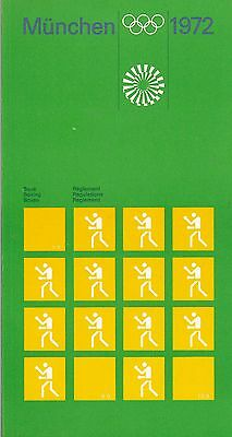 Otl AICHER 1972 Munich Olympics Boxing Booklet Ulm School Modernist Design Braun