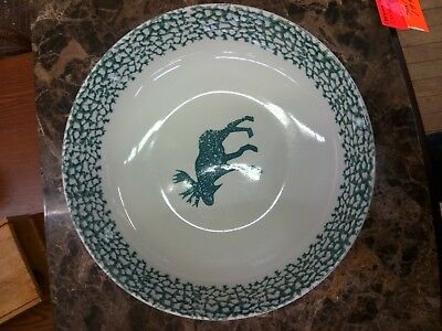 Folk Craft Moose Country Serving Bowl 1 FOOT ACROSS!!