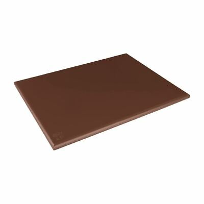 Hygiplas Extra Large High Density Brown Chopping Board for Vegetables - 60x45cm