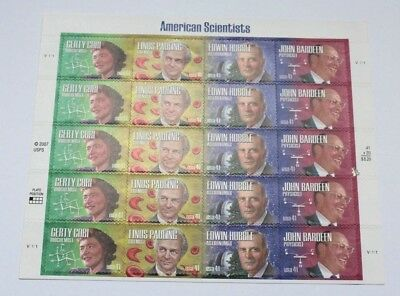 US Scott #4224-4227 American Scientist Stamp Sheet of 20 41 cent stamps MNH 2007
