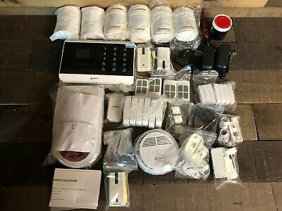 Kerui Home Alarm Security Burglar System w/ Motion Sensors, Keypad & Remotes NEW