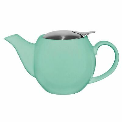 Olympia Cafe Teapot in Aqua with Clip-on Stainless Steel Lid - 510ml
