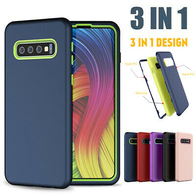 3in1 Shockproof Hybrid Rugged Rubber Case Cover For Samsung Galaxy S10 S9/8 Note