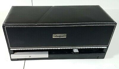 DiscGear Selector AUTO 100 CD DVD HOLDER ORGANIZER Black Faux Leather NICE!