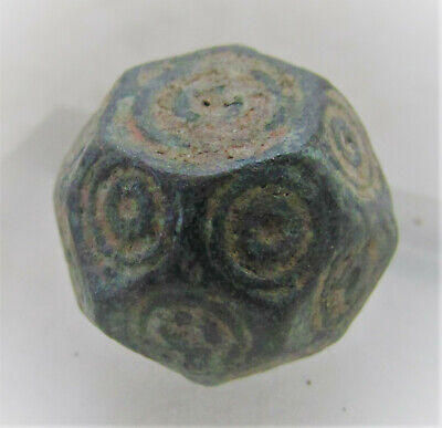 Ancient Byzantine Bronze Polygonal Solidus Barrel Weight 28G.
