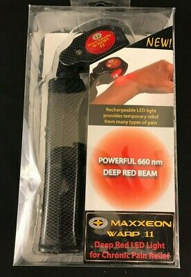 MAXXEON MXN02047 Warp 11 Deep Red 660nm LED Light for Chronic Pain Relief NEW