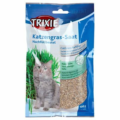 Trixie Bag Of Cat Grass Seeds - Approx. refil 100 G/Bag (Grow Your Own) 4233