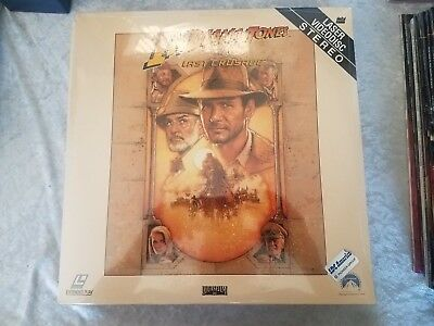 Laserdisc Indiana Jones And The Last Crusade Harrison Ford Sean Connery SEALED