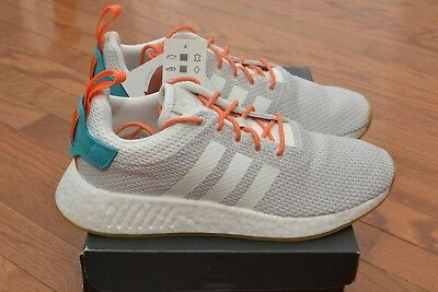 bf57355f8c89d ADIDAS NMD R2 Boost Summer Shoes Crystal White Grey Gum CQ3080 Size ...