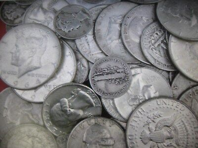 1/2 Oz - 90% Junk Silver U.S Coin Lot - $.60 Face Value -  54D half, 19 Merc