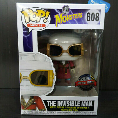Funko Pop movies The Invisible Man Monsters Figurine 608 (condition perfect)