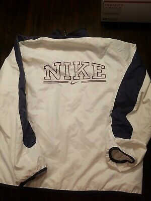 7bee3f1349 Mens Vintage 90 s Nike Air Logo Spell Out Green   White Windbreaker Jacket  Large