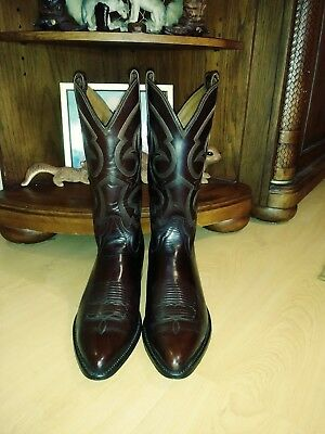 ee7791f9b99 RESISTOL RANCH- BY LUCCHESE mens boots 10.5 D Gorgeous Burnished Brown  Leather
