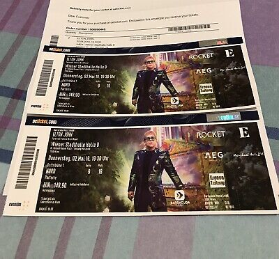 Elton John Concert Wien 2 May 2019 Tickets - 2 Tickets