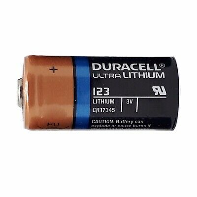 1 ONE Duracell CR123A 3V CR123 DL123 Ultra Lithium Batteries NEW EXP 2027